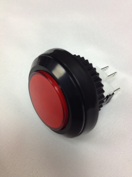 black and red round button
