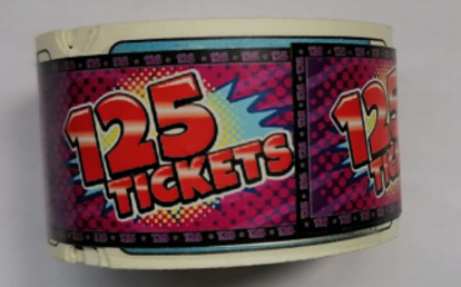 N139-764-000 125 point Treasure Dome ticket roll