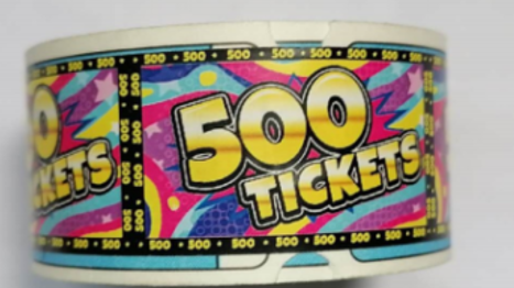 N139-767-000 500 point Treasure Dome ticket roll