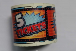 N139-769-000 5 point Treasure Dome ticket roll